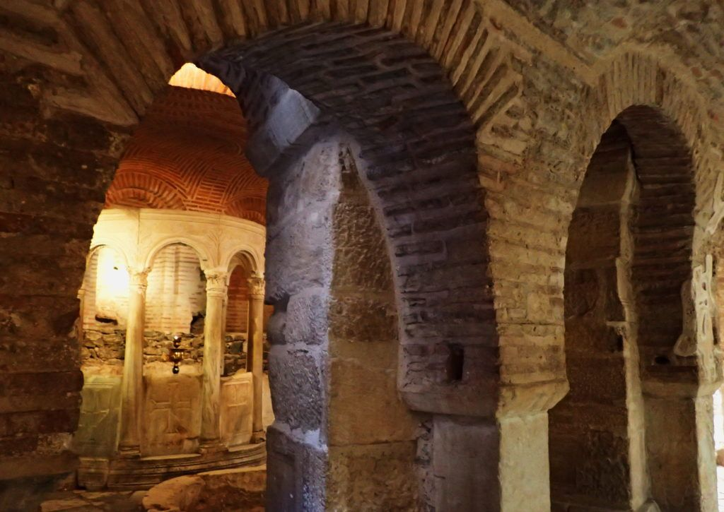 The Crypt of Agios Dimitrios was once a Roman bath and according to legend the site of the martyrdom of the saint. It's now a museum.