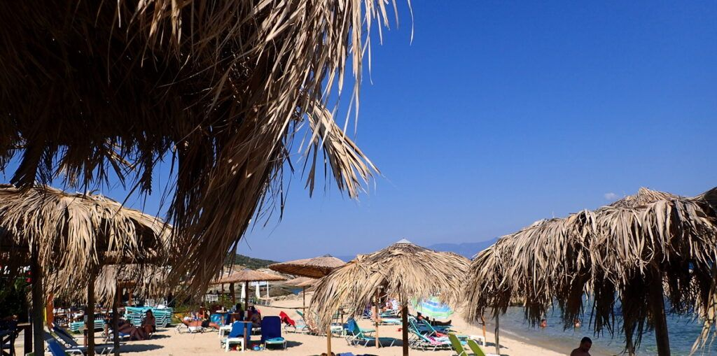 A relaxed day on one of the long sandy beaches of Sithonia